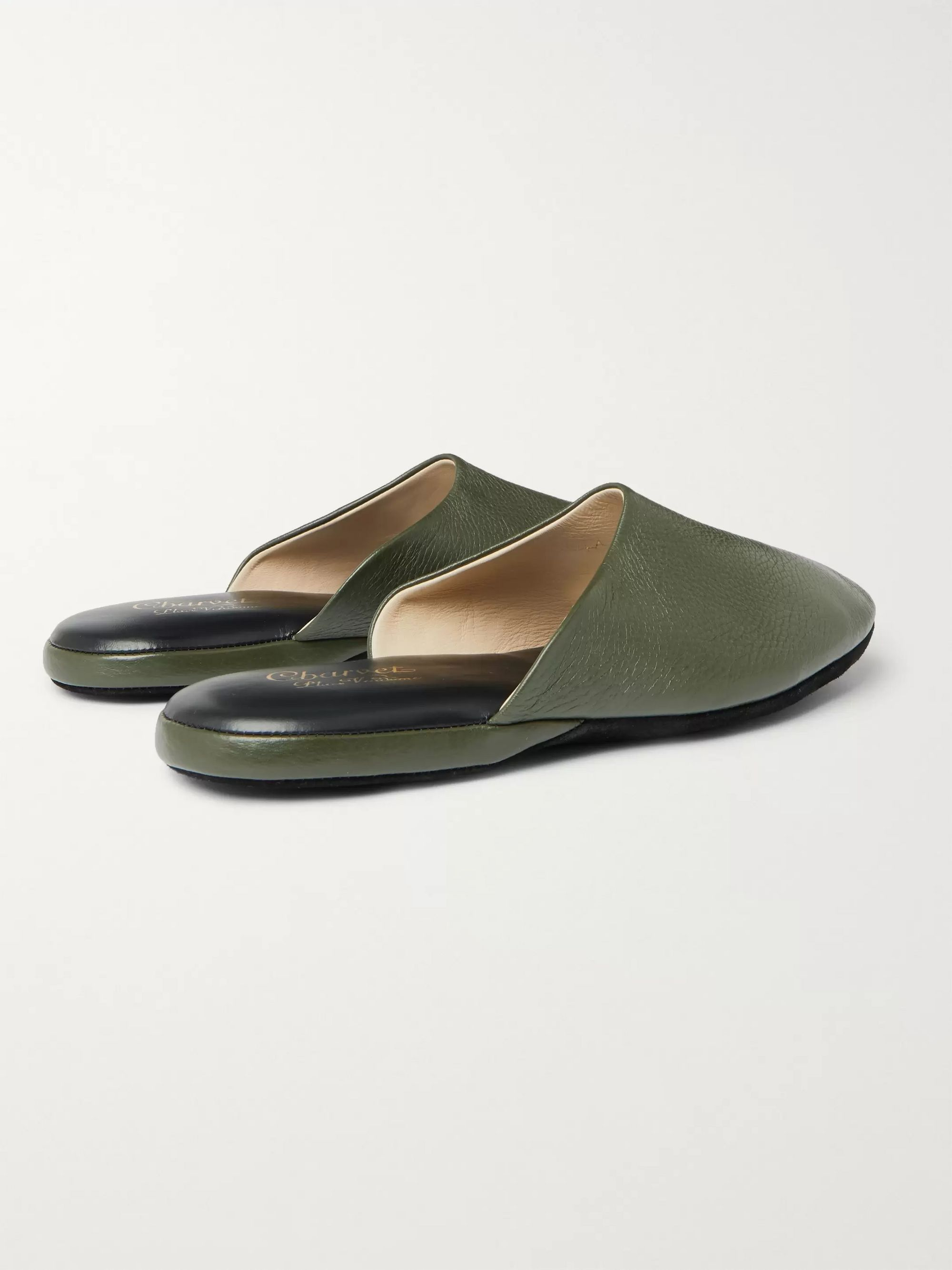 Charvet Leather Slippers