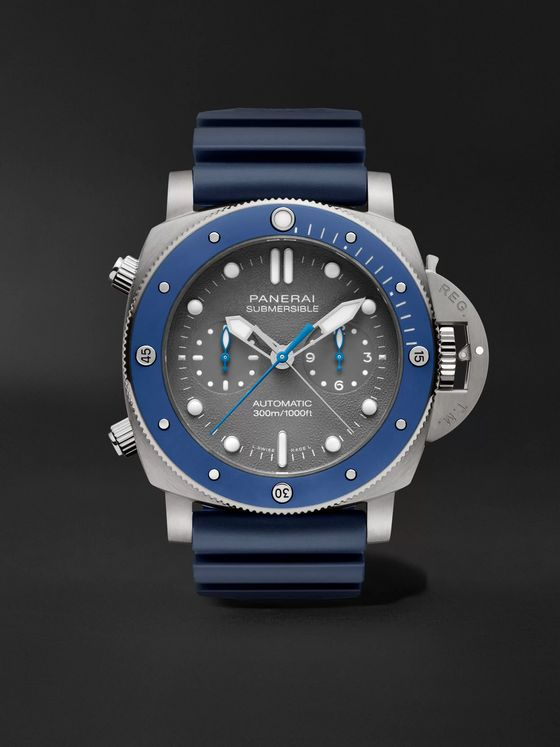 Panerai Submersible Guillaume Néry Chronograph Automatic 47mm Titanium and Rubber Watch
