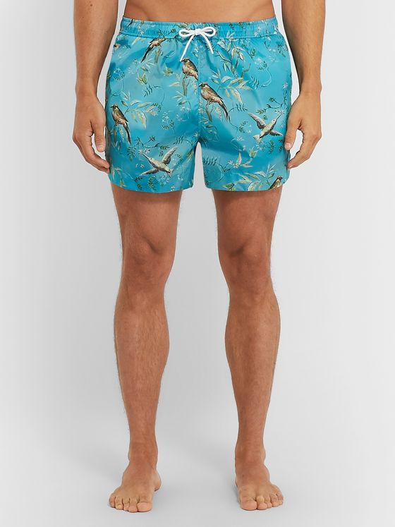 Dunhill Printed Short-Length Swim Shorts