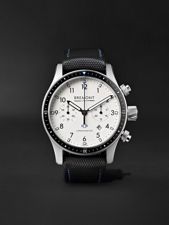 Bremont Boeing Model 247 Automatic Chronometer 43mm Stainless Steel Watch, Ref. No. BB247/WH/SS
