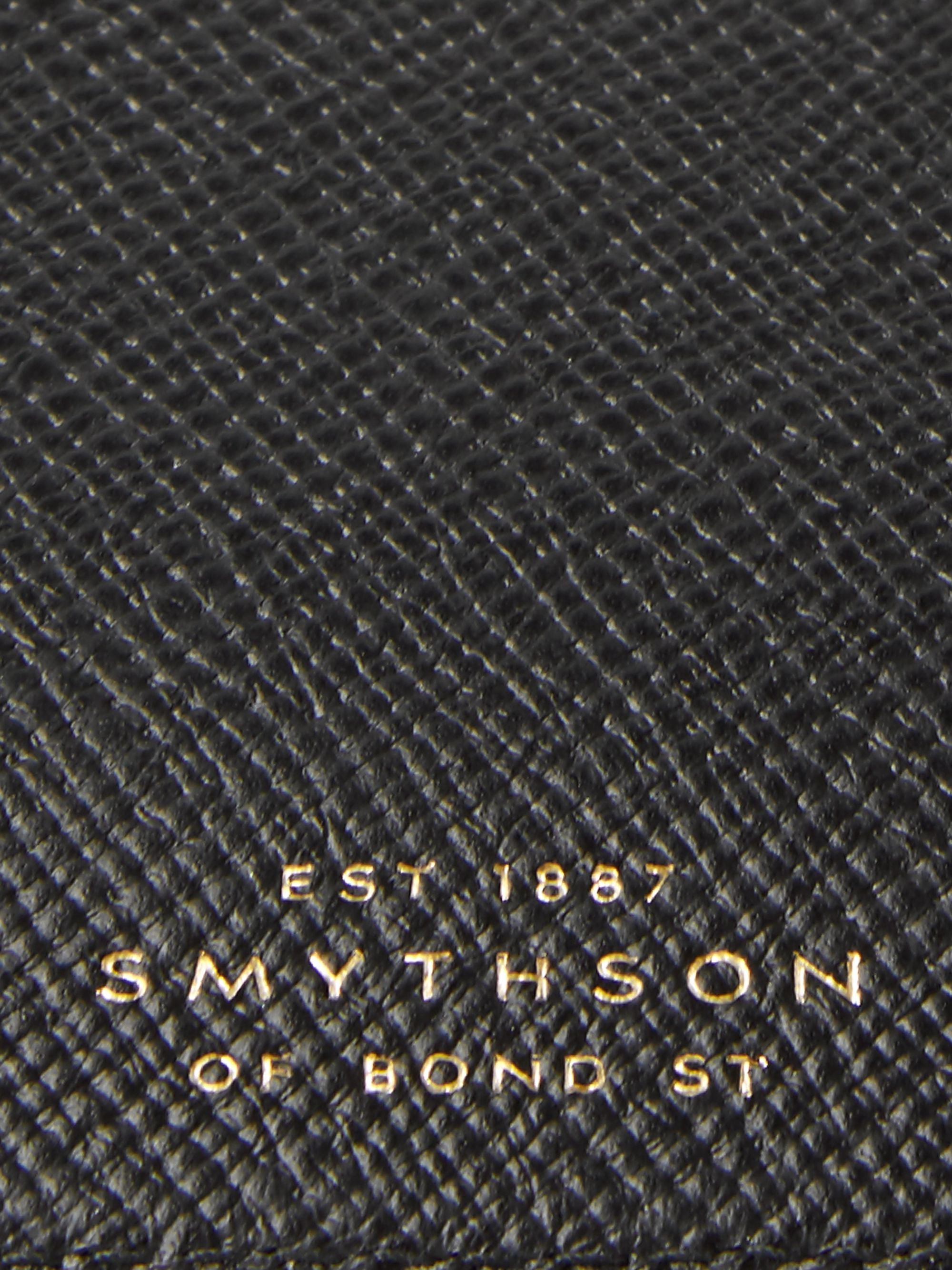 Smythson Panama Cross-Grain Leather Currency Case