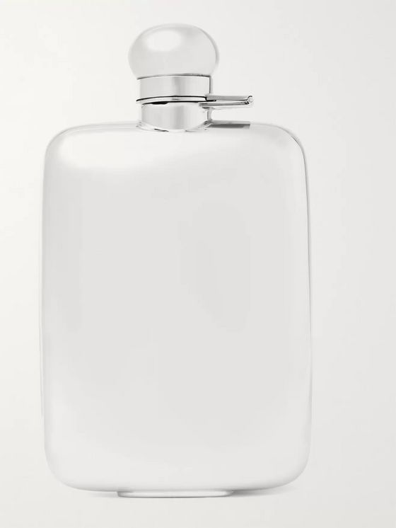 Asprey Sterling Silver Hip Flask