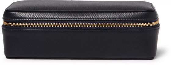 Smythson Panama Cross-Grain Leather Watch Case