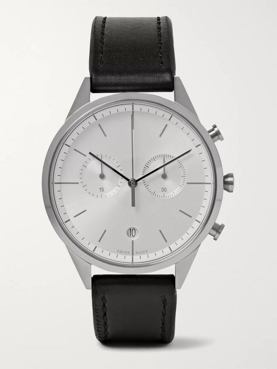 Uniform Wares C39 Stainless Steel and Leather Watch