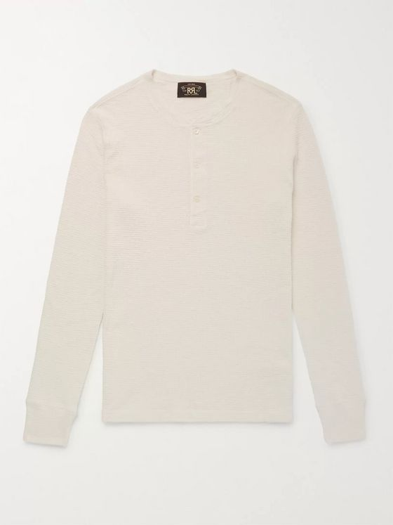 RRL Waffle-Knit Cotton Henley T-Shirt