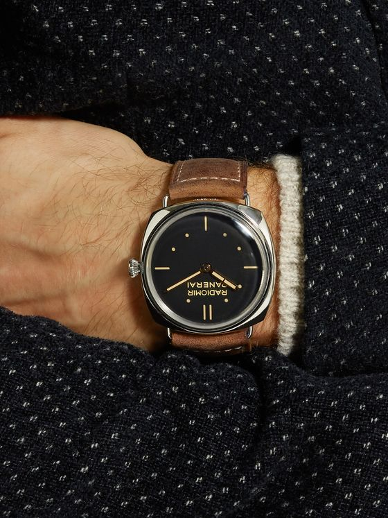 Panerai Radiomir S.L.C. 3 Days Acciaio Hand-Wound 47mm Steel and Leather Watch