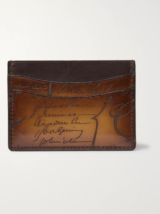 BERLUTI Bambou Leather Cardholder