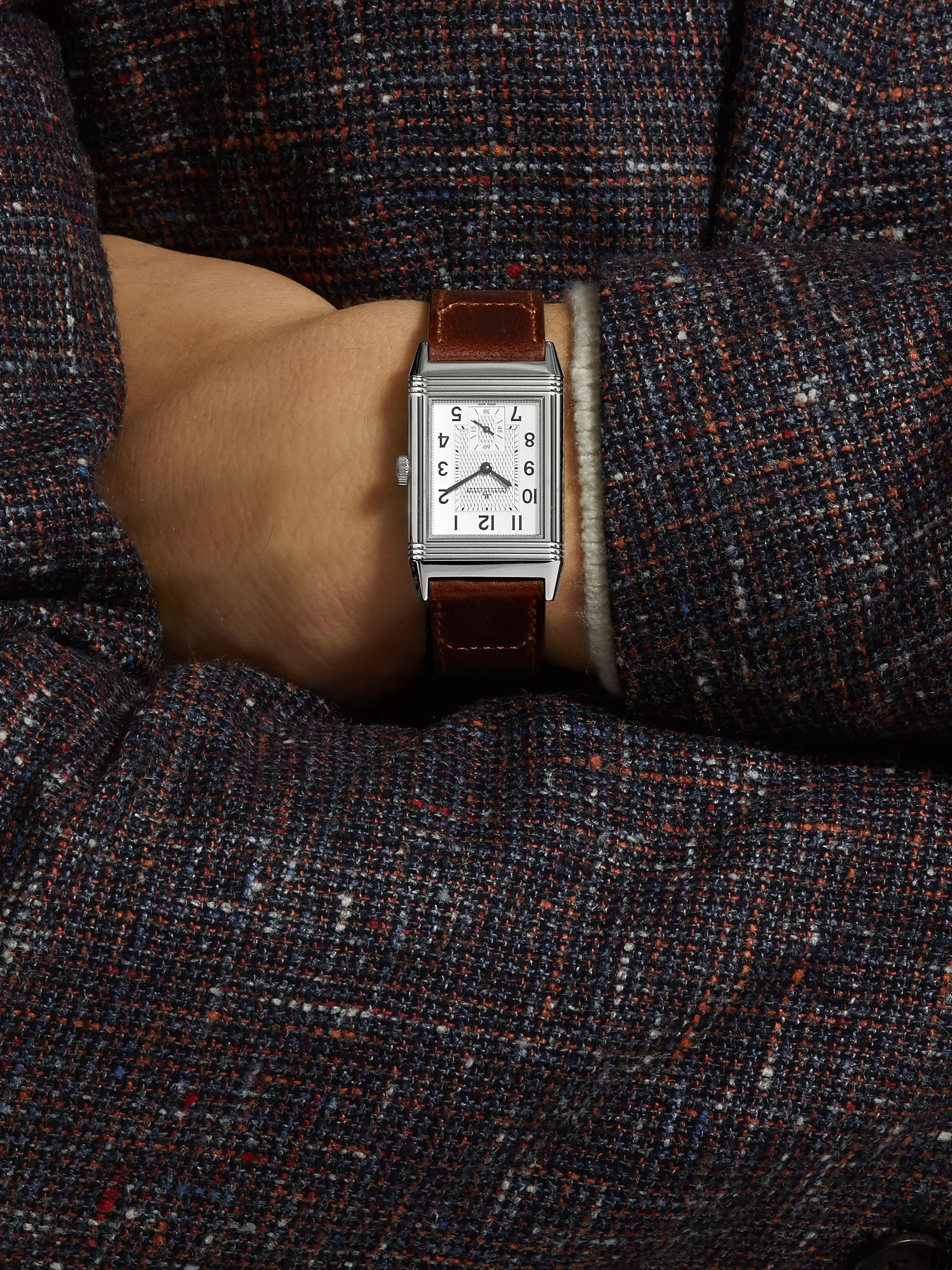 Jaeger-LeCoultre Reverso Classic Medium Hand-Wound 25.5mm Stainless Steel and Leather Watch