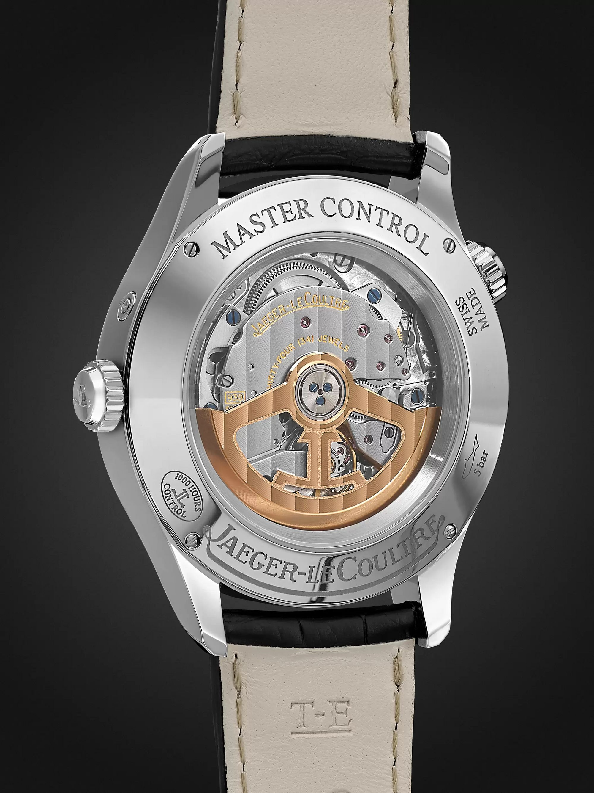 Jaeger-LeCoultre Master Geographic Automatic 39mm Stainless Steel and Alligator Watch, Ref. No. JLQ3848420