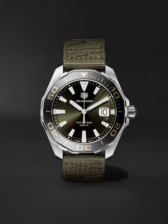 TAG Heuer Aquaracer Limited Edition Quartz 43mm Steel and Webbing Watch, Ref. No. WAY101E.FC8222