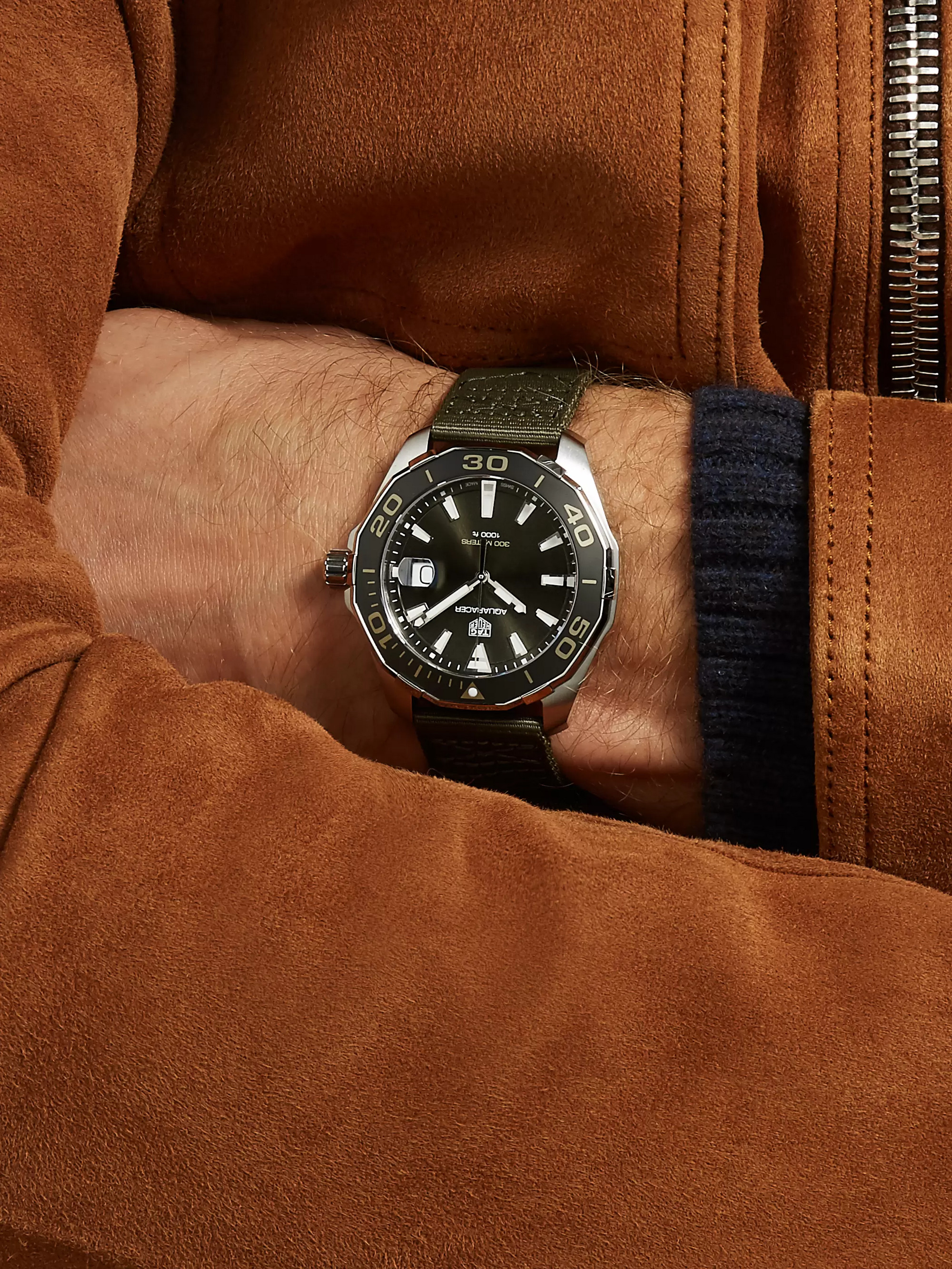 TAG Heuer Aquaracer Limited Edition Quartz 43mm Steel and Webbing Watch
