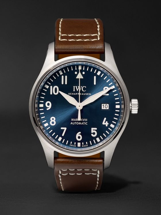 IWC SCHAFFHAUSEN Pilot's Mark XVIII Le Petit Prince Edition Automatic 40mm Stainless Steel and Leather Watch, Ref. No. IW327004