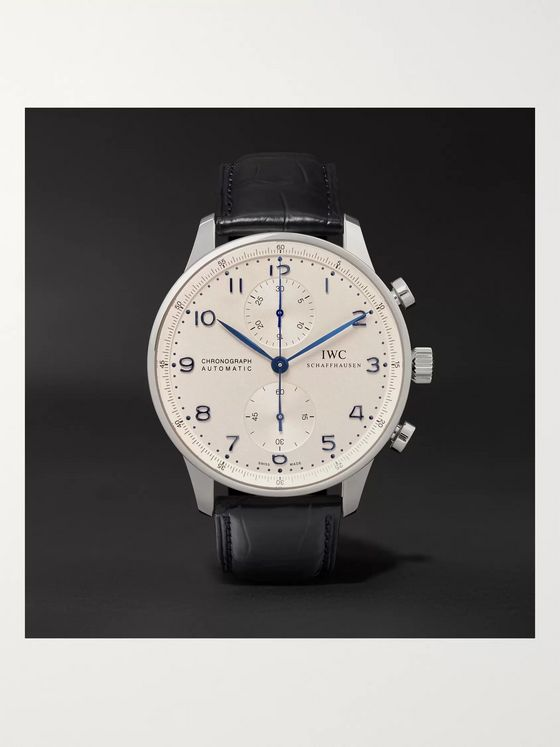 IWC SCHAFFHAUSEN Portugieser Chronograph 41mm Stainless Steel and Alligator Watch