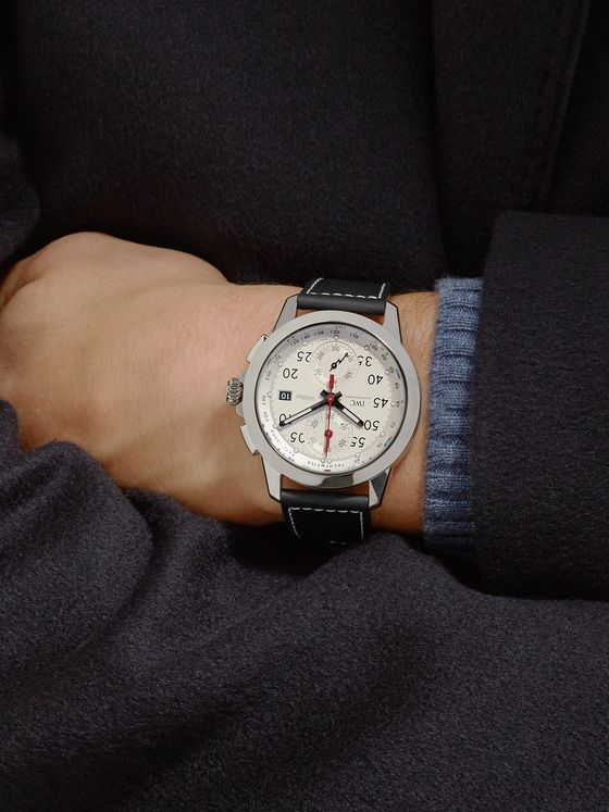IWC SCHAFFHAUSEN Ingenieur Chronograph Sport 44.3mm Titanium and Leather Watch, Ref. No. IW380902
