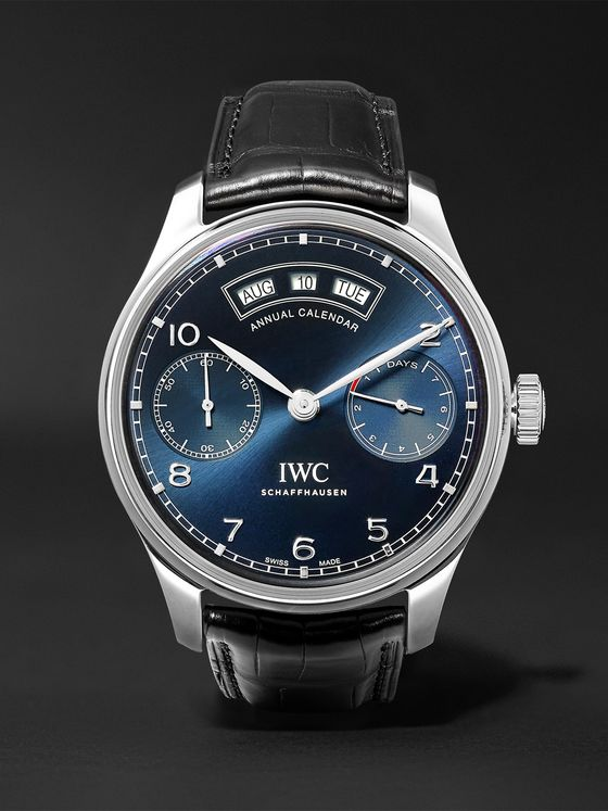 IWC SCHAFFHAUSEN Portugieser Annual Calendar 44.2mm Stainless Steel and Alligator Watch, Ref. No. IW503502