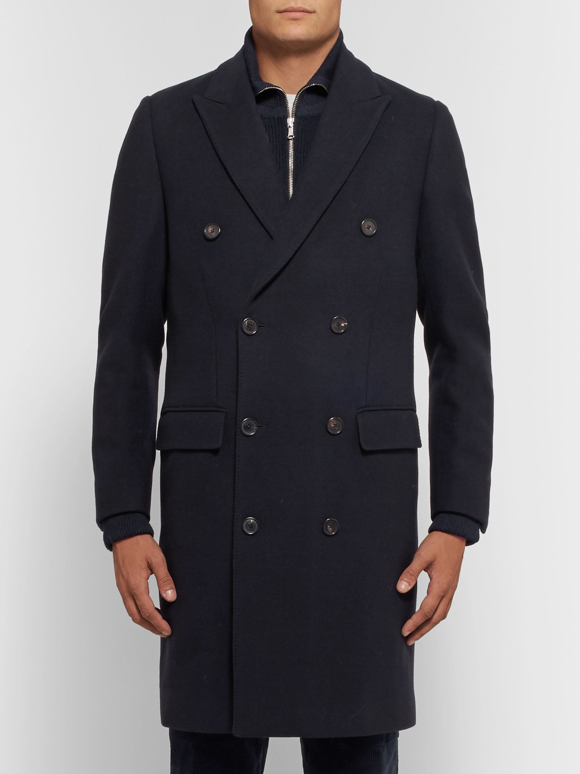 SALLE PRIVÉE Ives Double-Breasted Wool-Blend Coat