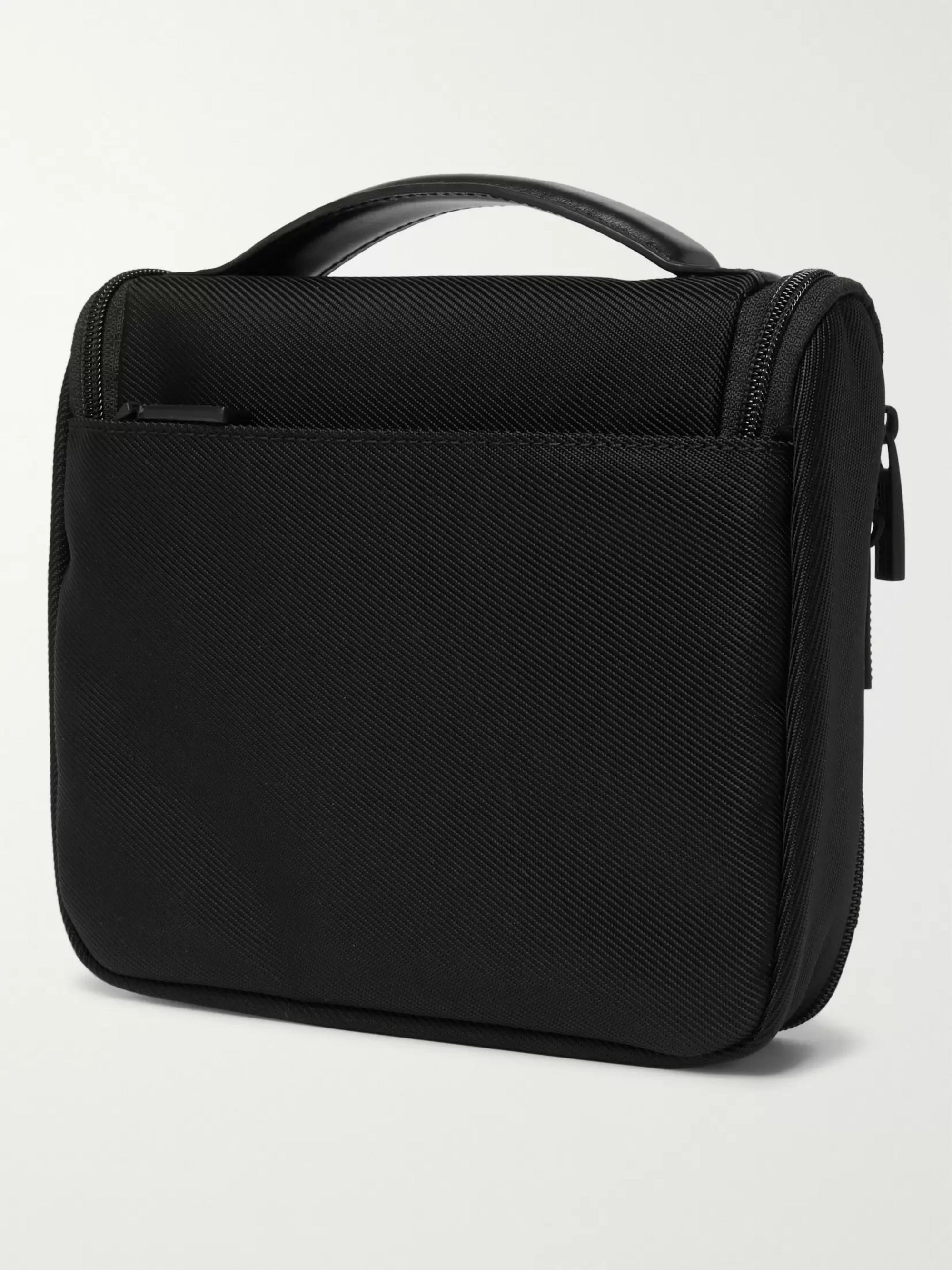 Montblanc Nightflight Leather-Trimmed Canvas Wash Bag