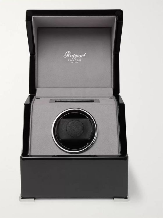 Rapport London Perpetua III Lacquered Ebony Watch Winder