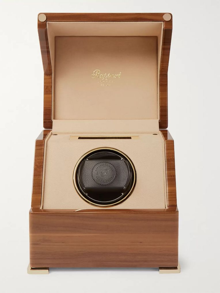 Rapport London Perpetua III Lacquered Walnut Watch Winder