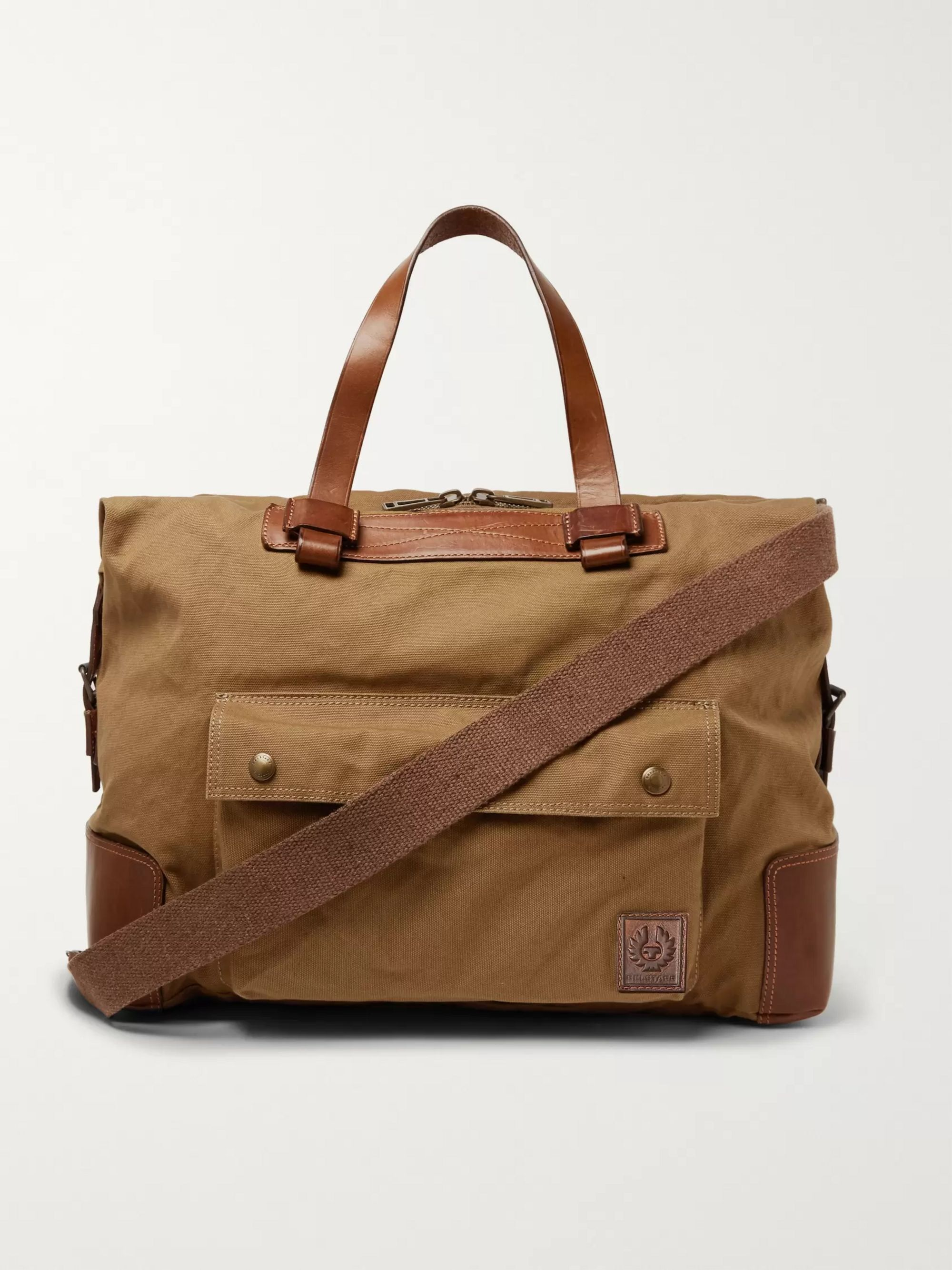 Colonial Leather And Canvas Duffle Bag