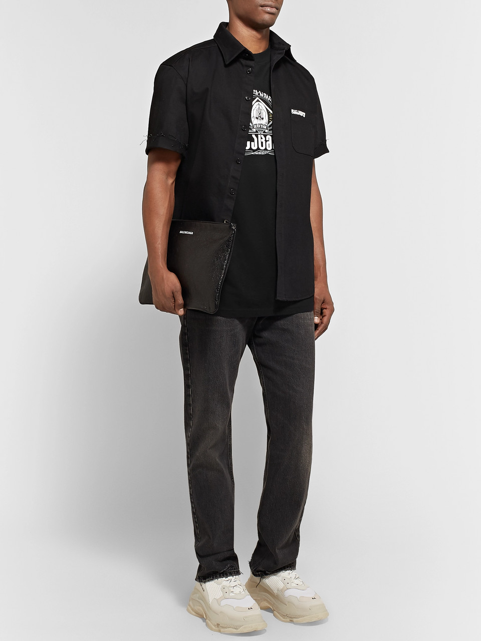 Vetements Oversized Printed Stretch-Cotton Jersey T-Shirt