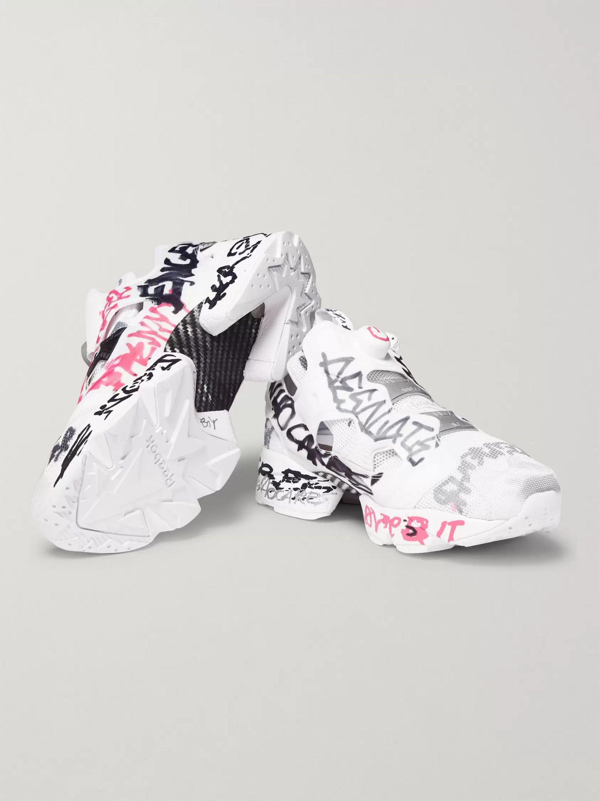 Vetements X Reebok Logo Sneaker Instapump Fury