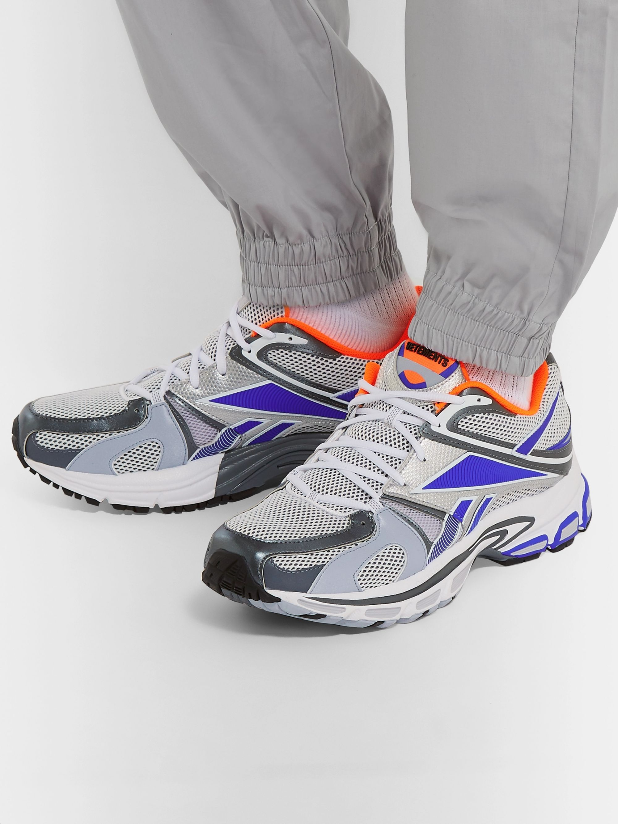 Vetements + Reebok Runner 200 Rubber-Trimmed Mesh Sneakers