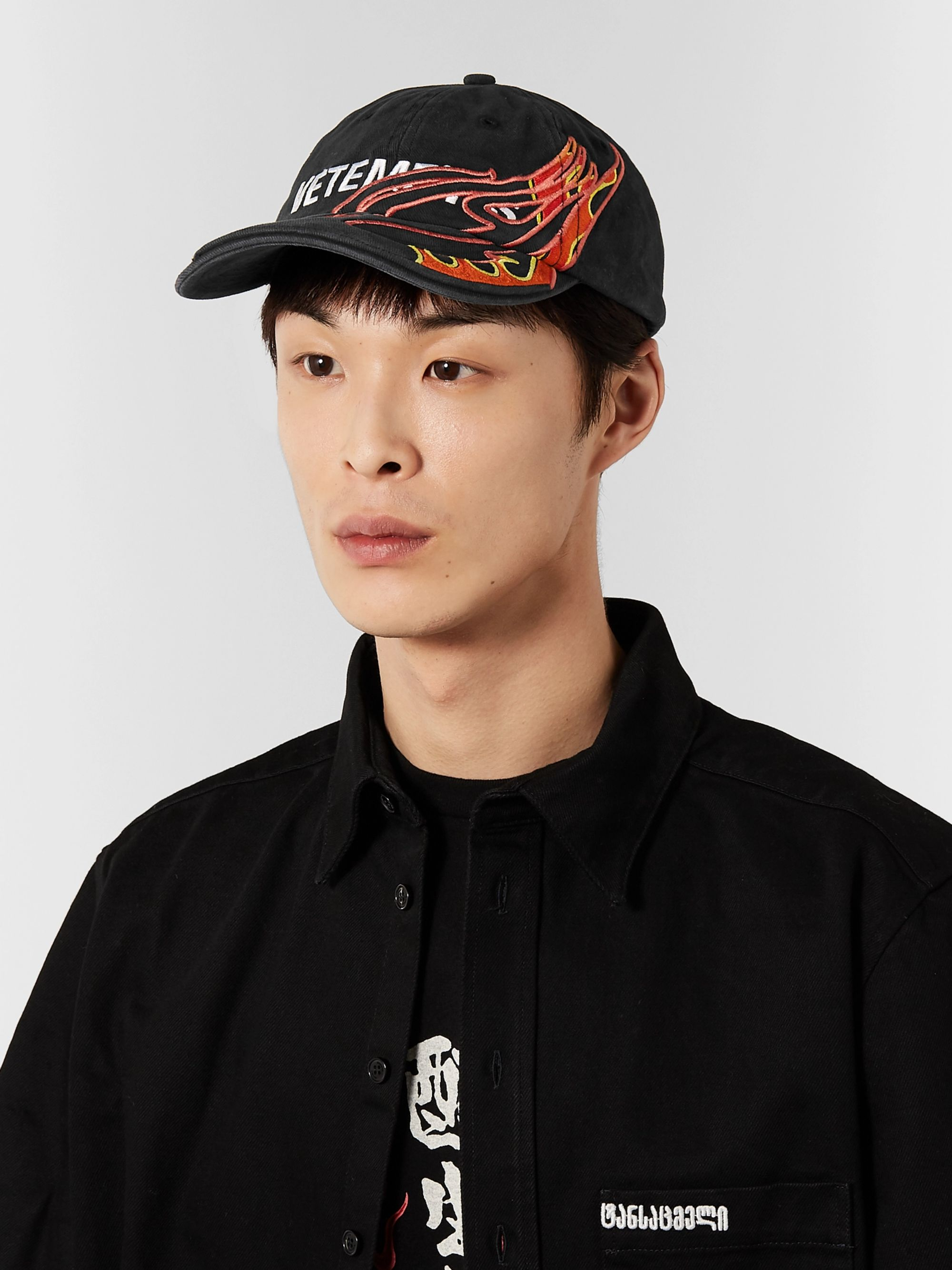 Vetements + Reebok Embroidered Cotton-Twill Baseball Cap