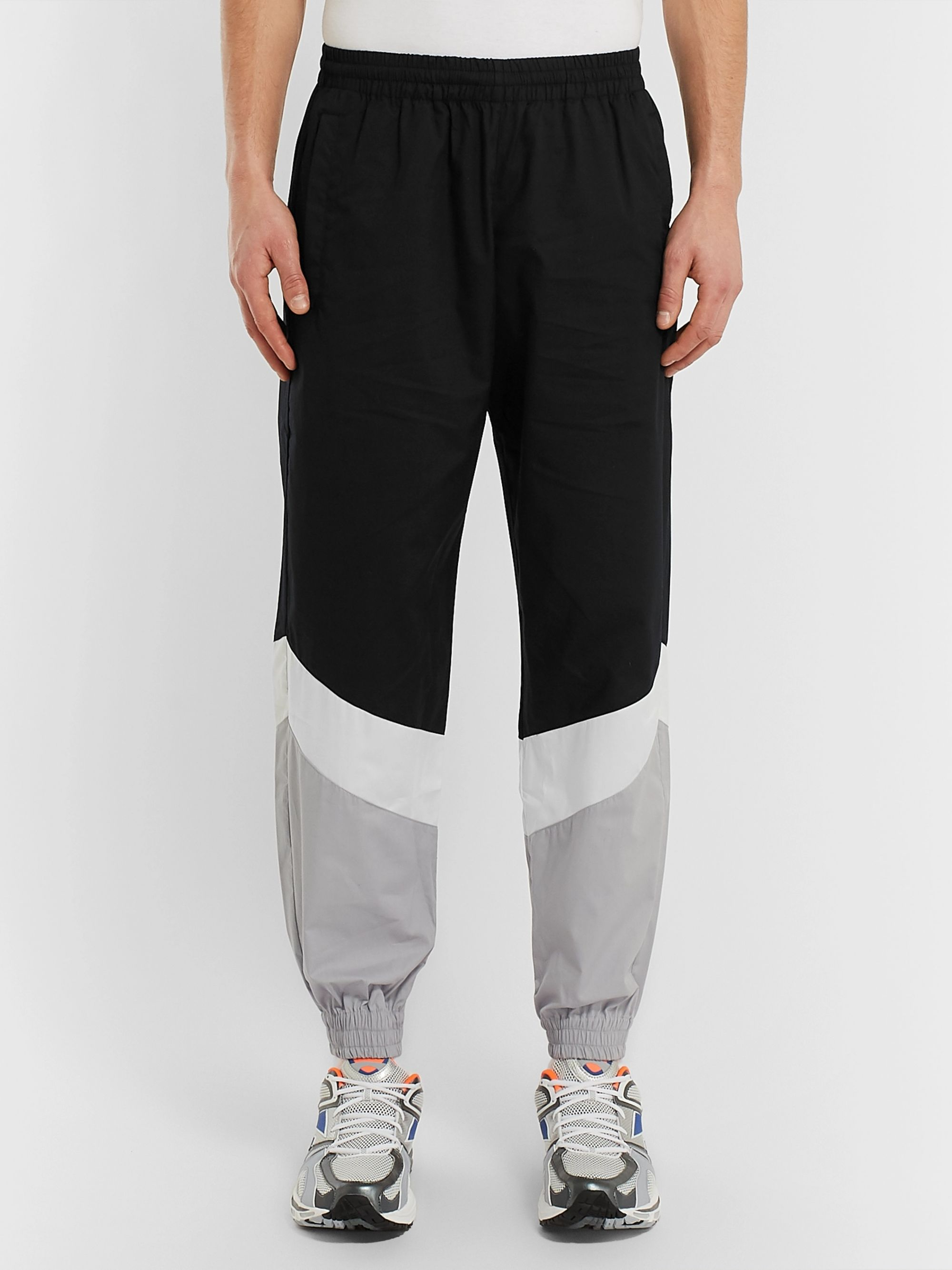 Vetements Tapered Panelled Coated-Cotton Sweatpants