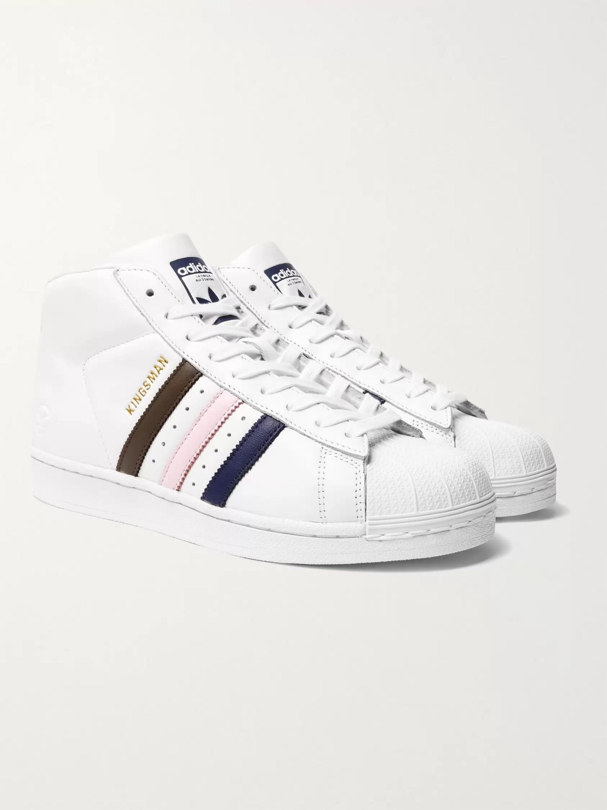 Pink shell toe superstar adidas shoes