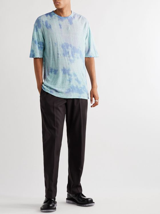 Our Legacy Tie-Dyed Knitted Linen T-Shirt
