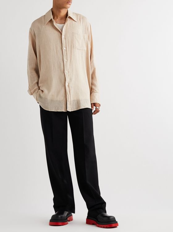 OUR LEGACY Borrowed Cotton and Linen-Blend Shirt