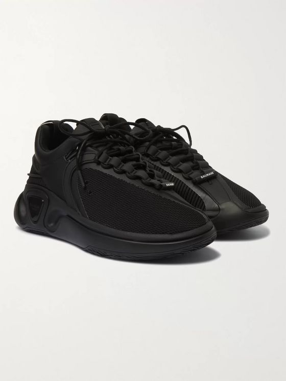 Balmain B-Runner Nylon and Mesh Sneakers