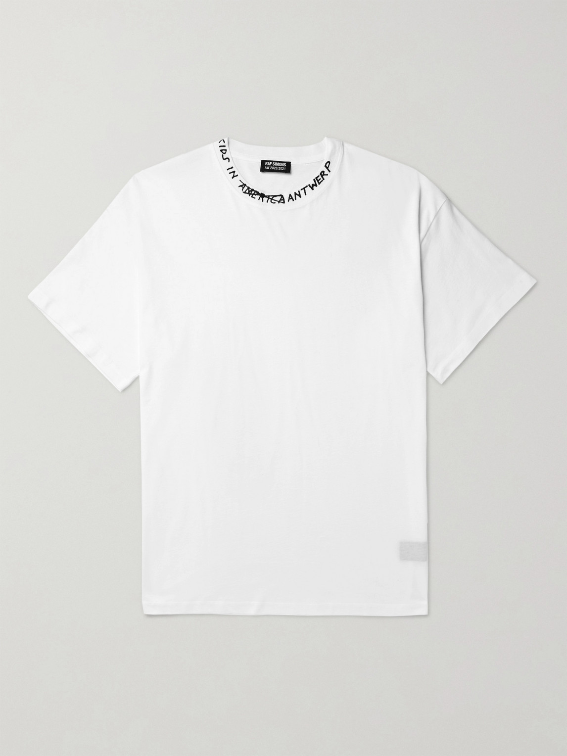 Raf Simons Oversized Printed Cotton-jersey T-shirt In White