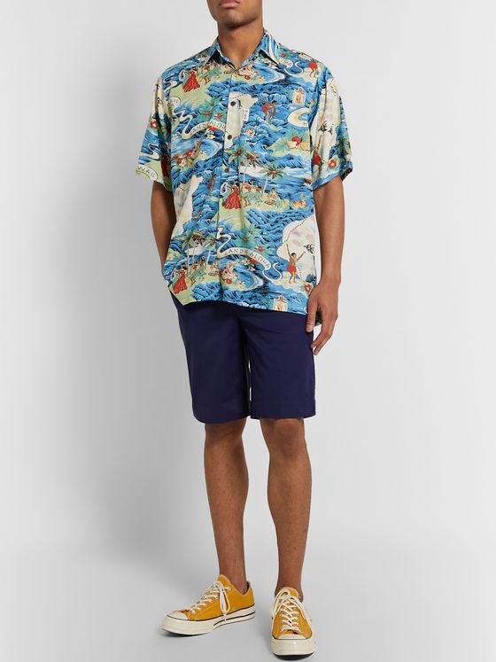 Go Barefoot Land of Aloha Printed Cotton-Blend Shirt