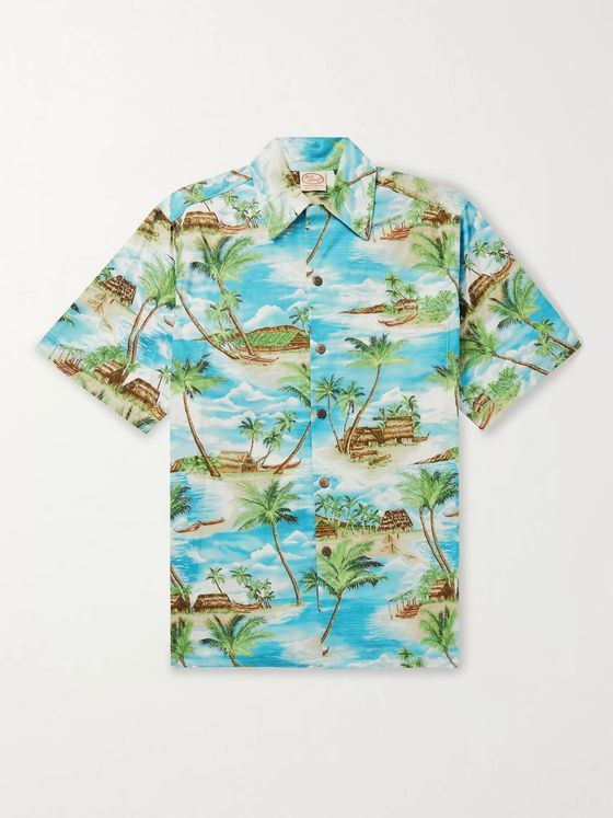 Go Barefoot Island Hut Printed Cotton Shirt