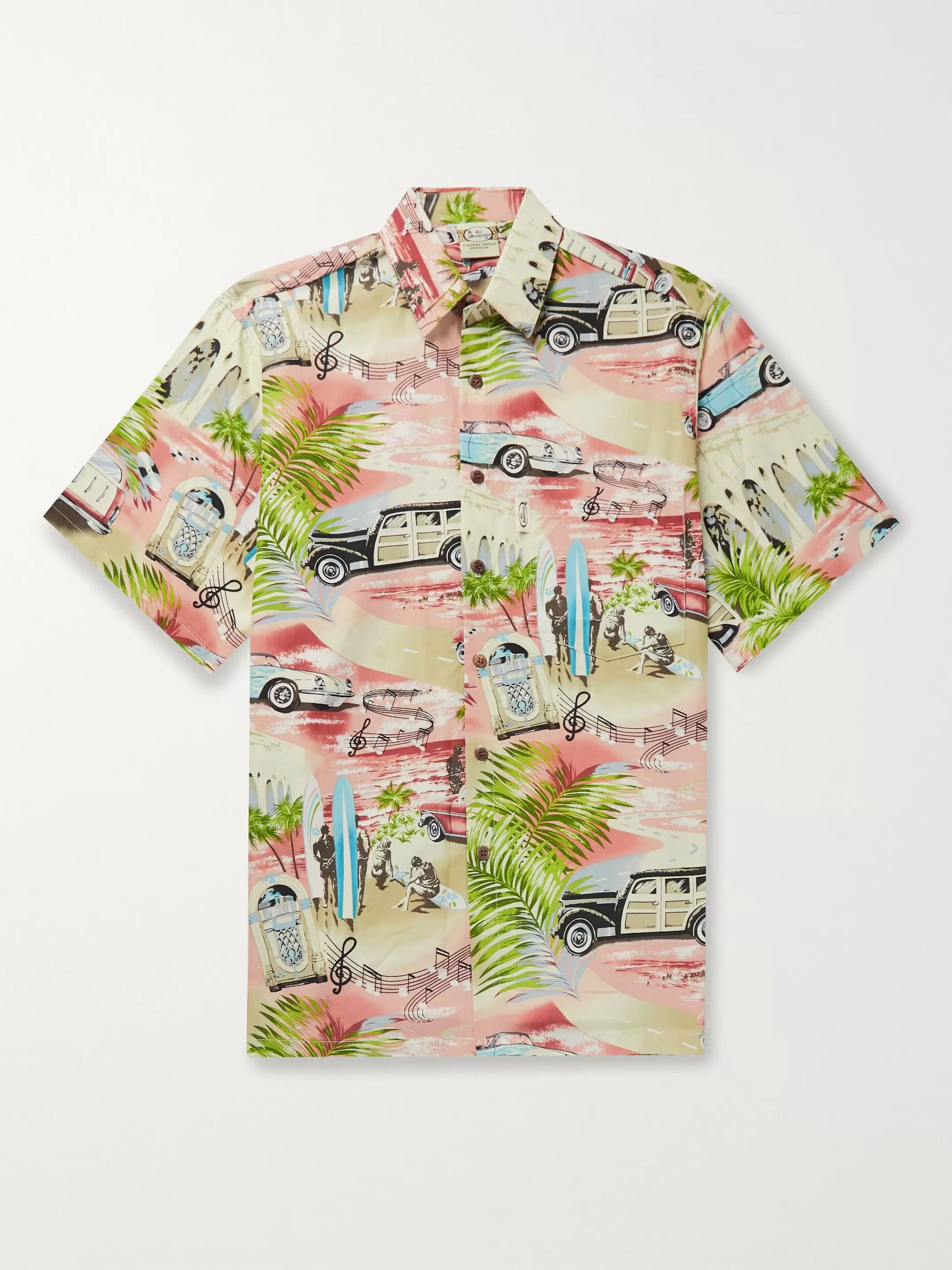 Go Barefoot Woody Printed Cotton-Blend Shirt
