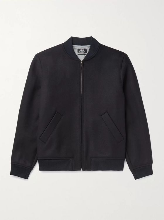 A.P.C. Karl Wool-Blend Bomber Jacket