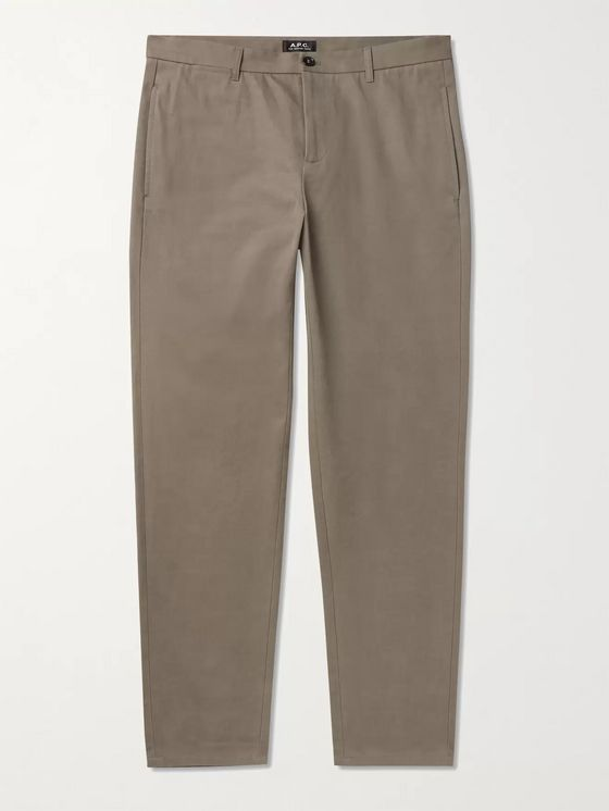 A.P.C. Slim-Fit Cotton-Gabardine Chinos