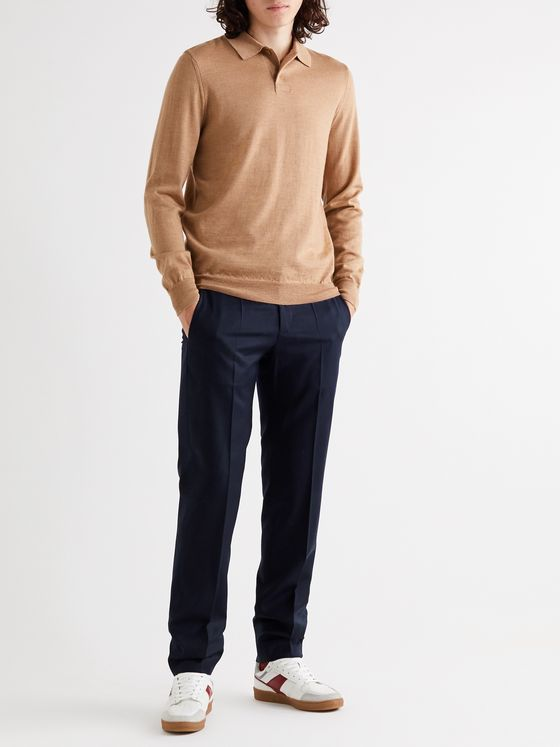 A.P.C. Slim-Fit Virgin Wool-Flannel Suit Trousers