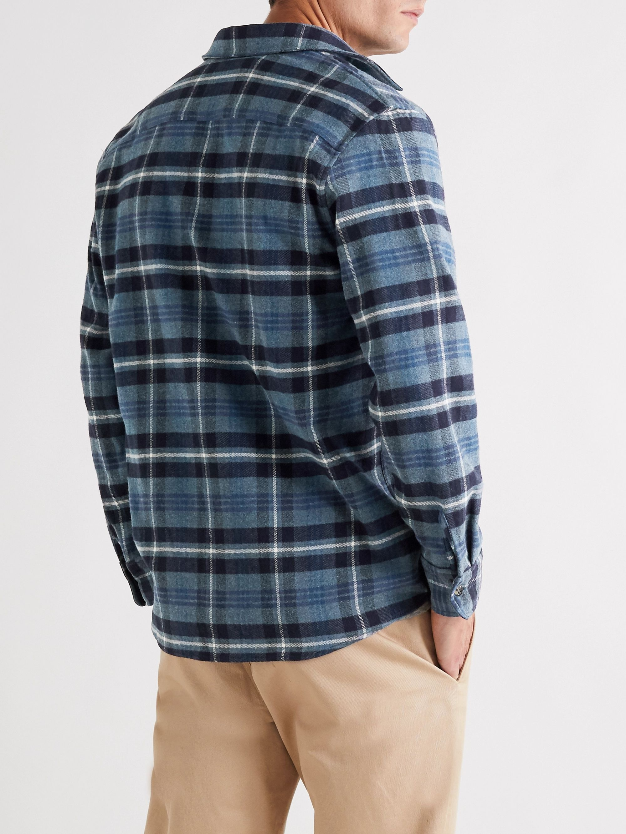 A.P.C. Trek Checked Brushed-Flannel Overshirt