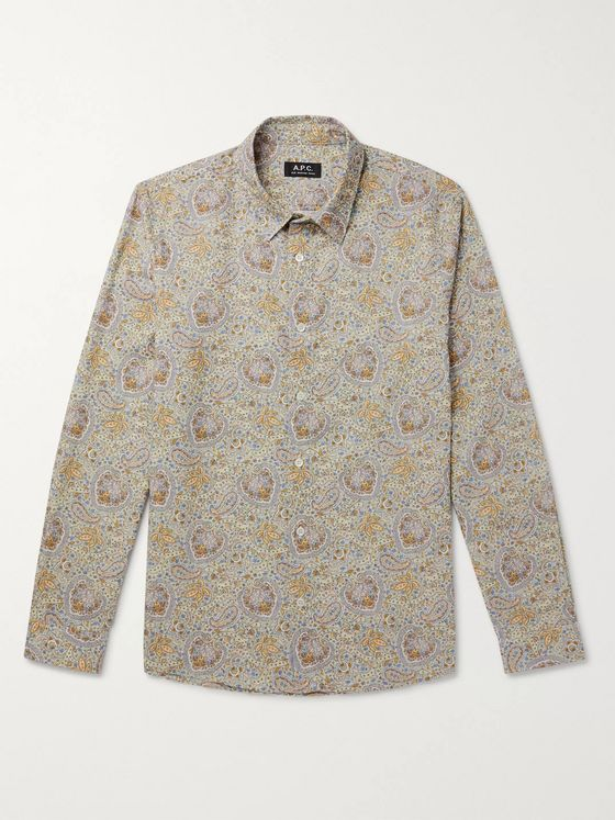 A.P.C. Hector Paisley-Print Cotton Shirt