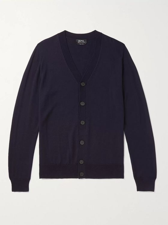 A.P.C. Samuel Slim-Fit Merino Wool Cardigan