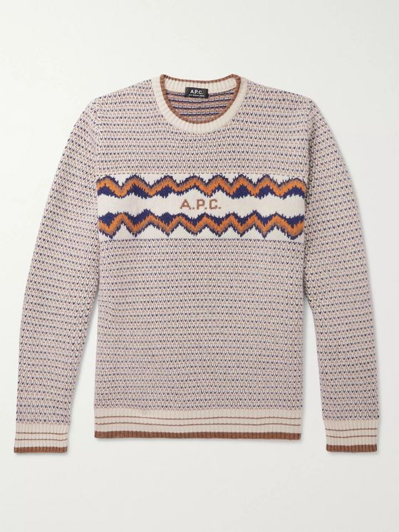 A.P.C. Ben Wool-Jacquard Sweater