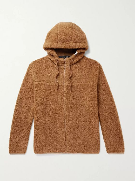A.P.C. Rohan Fleece Zip-Up Hoodie