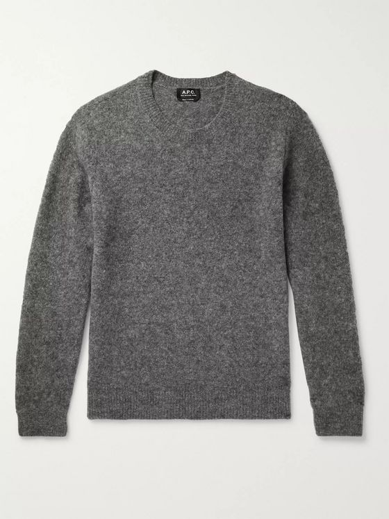 A.P.C. Diego Mélange Wool-Blend Sweater