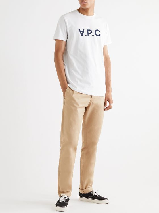 A.P.C. Logo-Flocked Cotton-Jersey T-Shirt