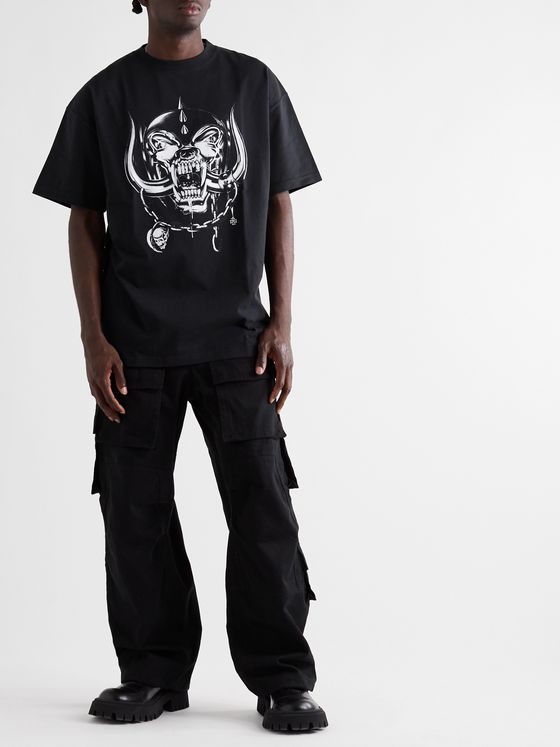 Vetements + Motörhead Oversized Printed Cotton-Jersey T-Shirt