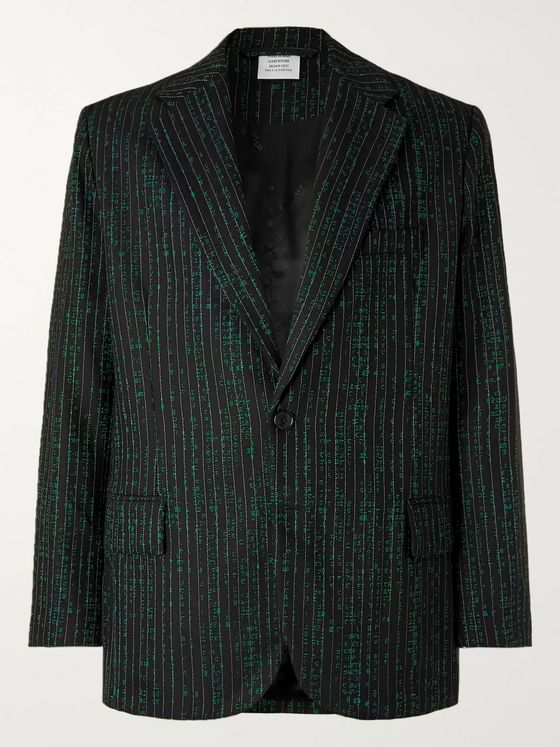 Vetements Virgin Wool-Blend Jacquard Blazer