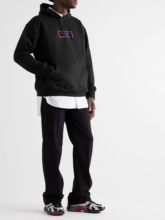 Vetements Printed Loopback Cotton-Blend Jersey Hoodie